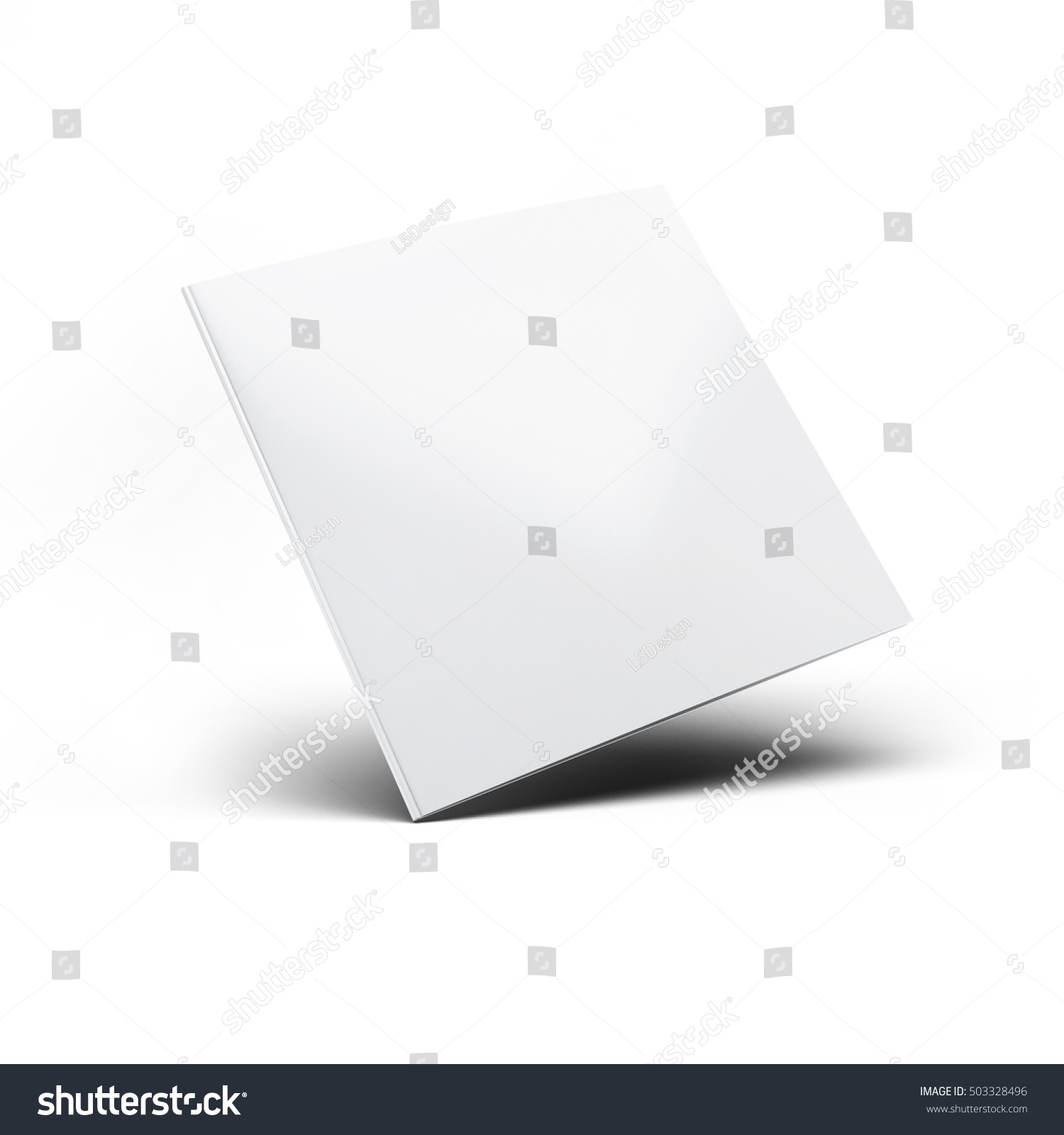 Blank Folded Postcard Invitation Greeting Card Mock Up 3d