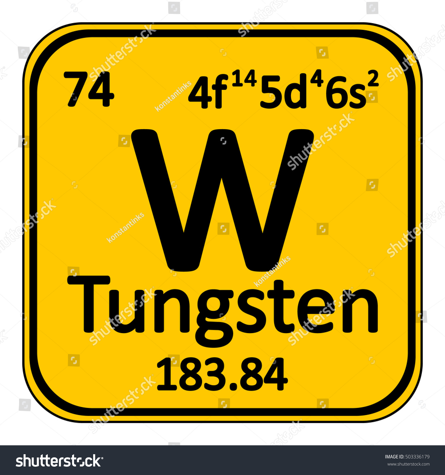 Periodic table element tungsten icon on stock vector 503336179 periodic table element tungsten icon on white background vector illustration gamestrikefo Gallery