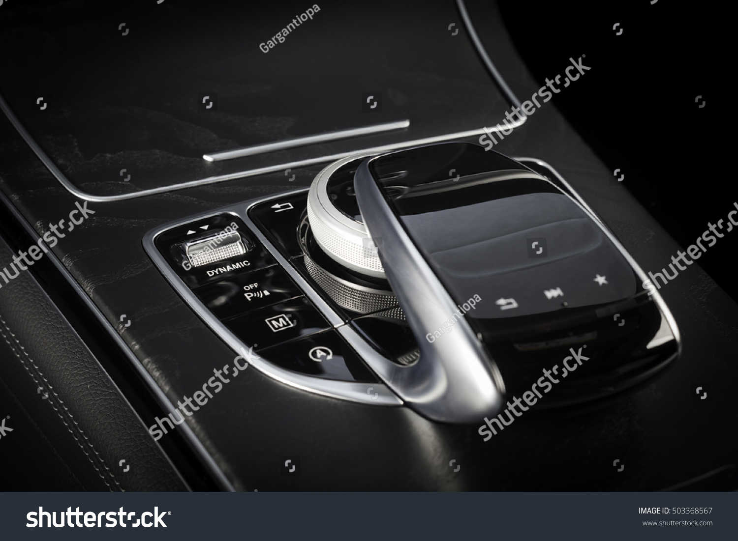 modern car interior control panel joystick stock photo 503368567 shutterstock. Black Bedroom Furniture Sets. Home Design Ideas