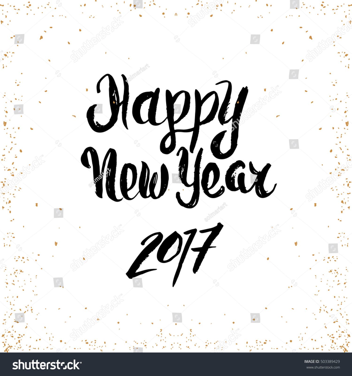 Happy New Year Quote Made Dry Stock Vector (Royalty Free) 503389429 ...