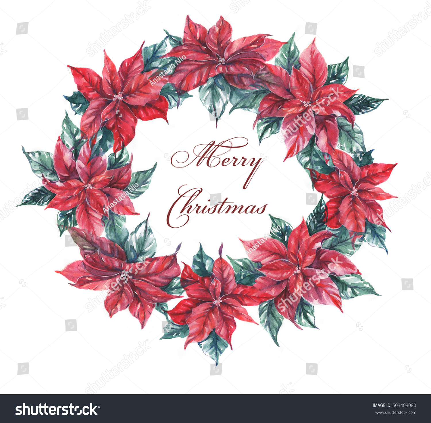 Happy New Year Merry Christmas Greeting Stock Illustration 503408080