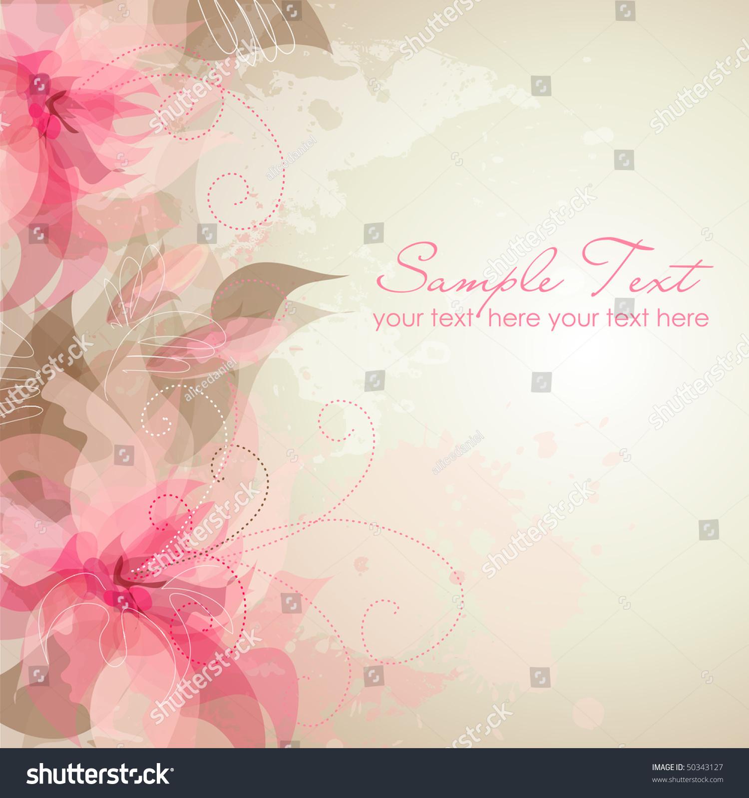 Romantic Flower Background Stock Vector Illustration
