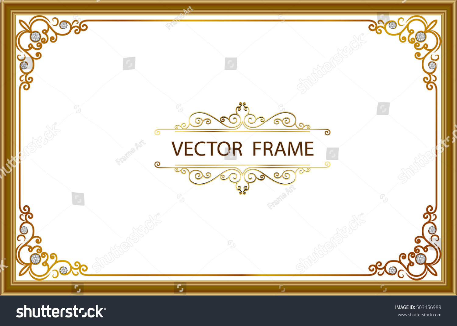 Royalty-free Gold photo frames with corner thailand… #503456989 ...