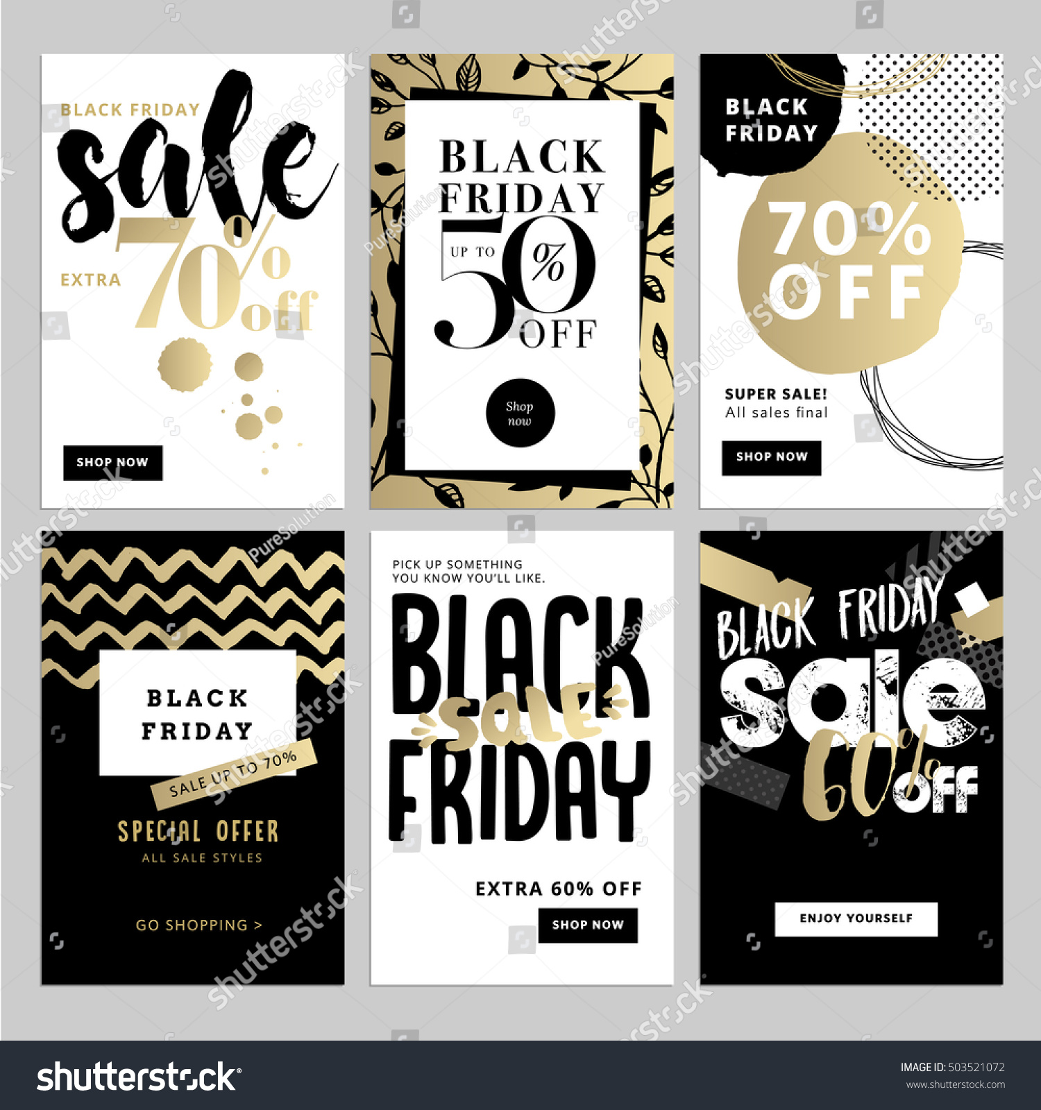 Set mobile sale banners black friday stock vector 503521072 shutterstock - Black friday mobel ...