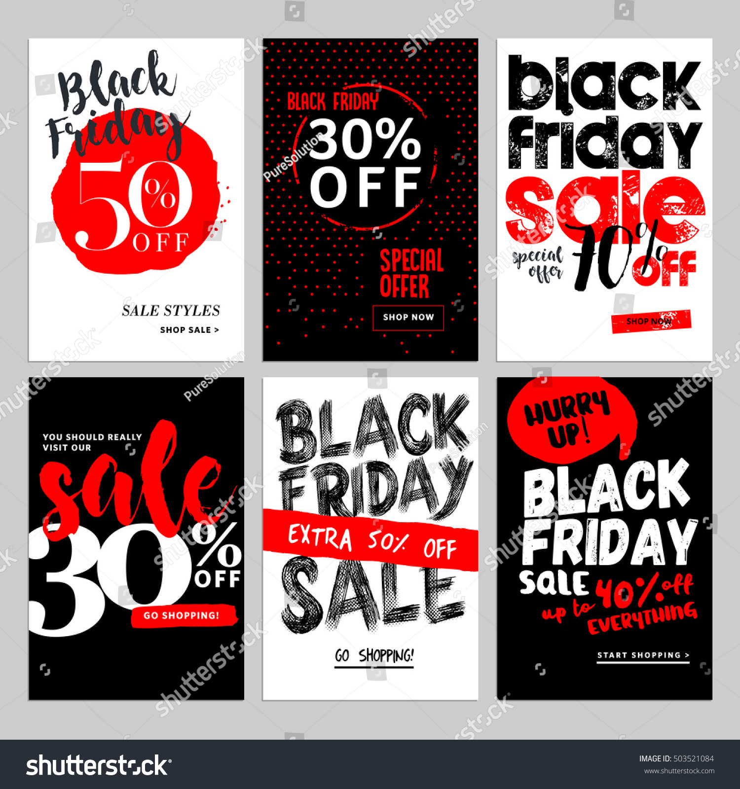 Set mobile sale banners black friday stock vector 503521084 shutterstock - Black friday mobel ...