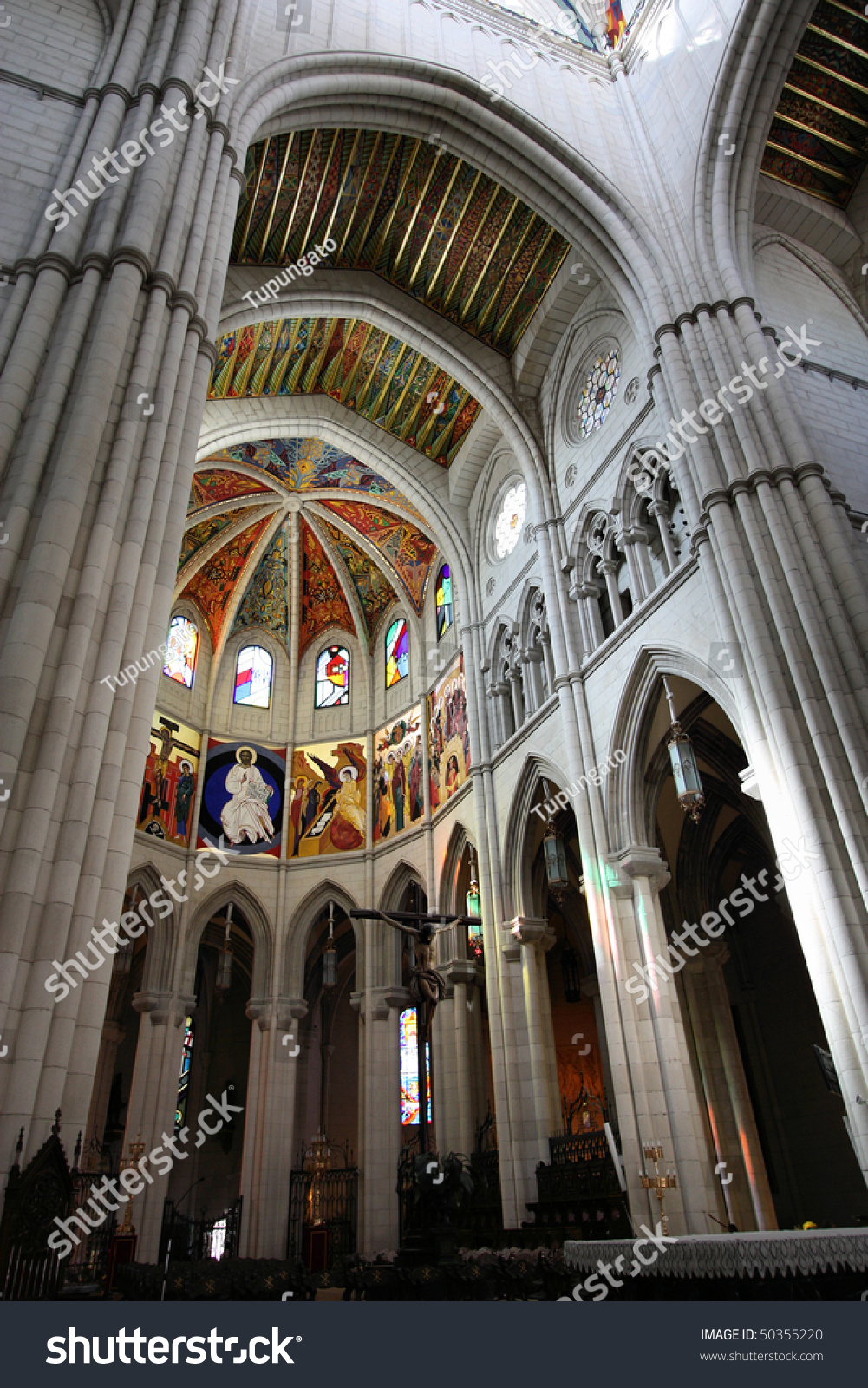 Beautiful Neo Gothic Interior Of Santa Maria La Real De Almudena