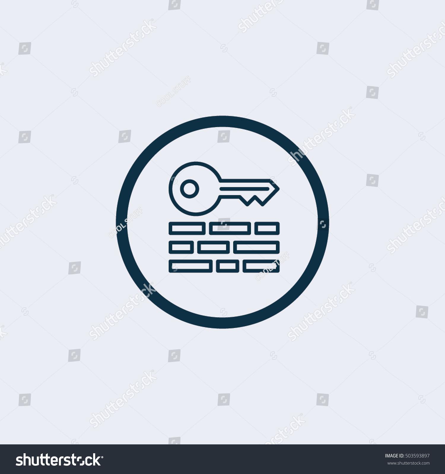 Key Symbol Iconkeyword Icon Icon Stock Vector 2018 503593897