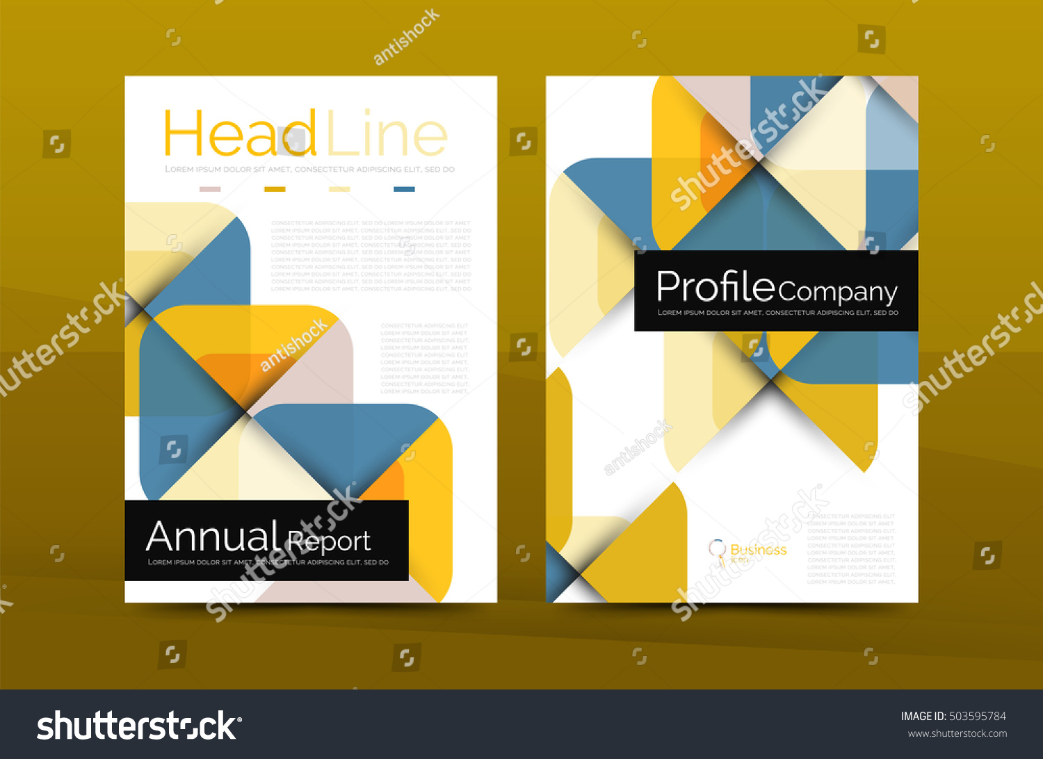 Business Company Profile Brochure Template Corporate Stock