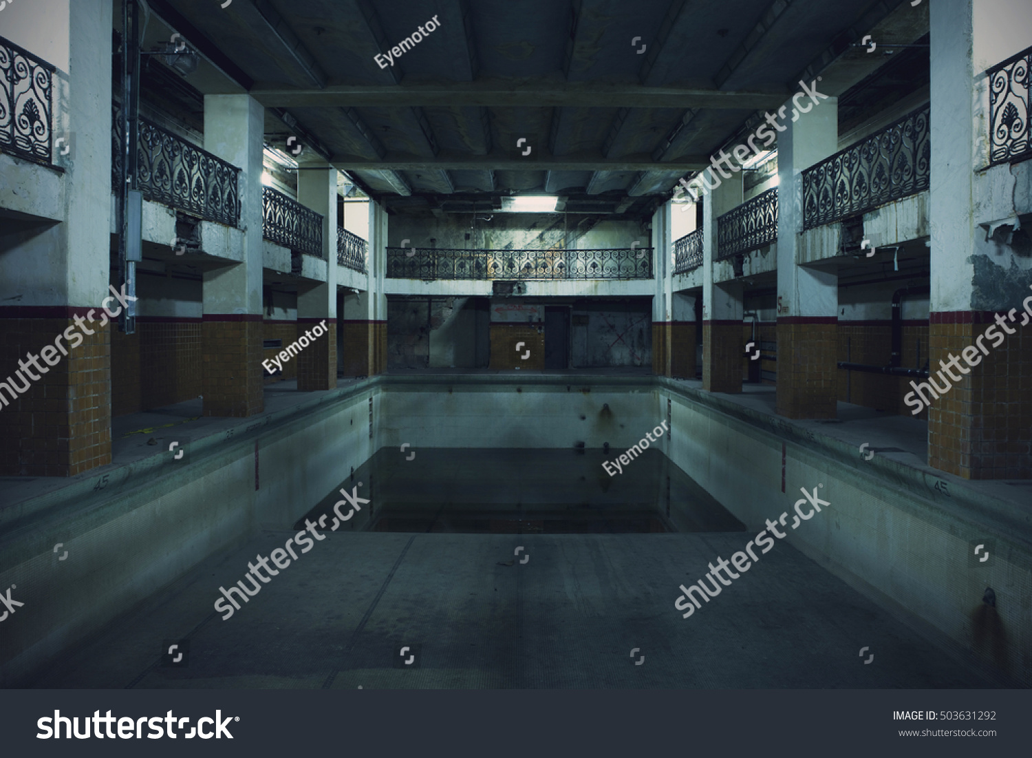 Underground Pool Sits Abandoned Stock Photo Edit Now 503631292