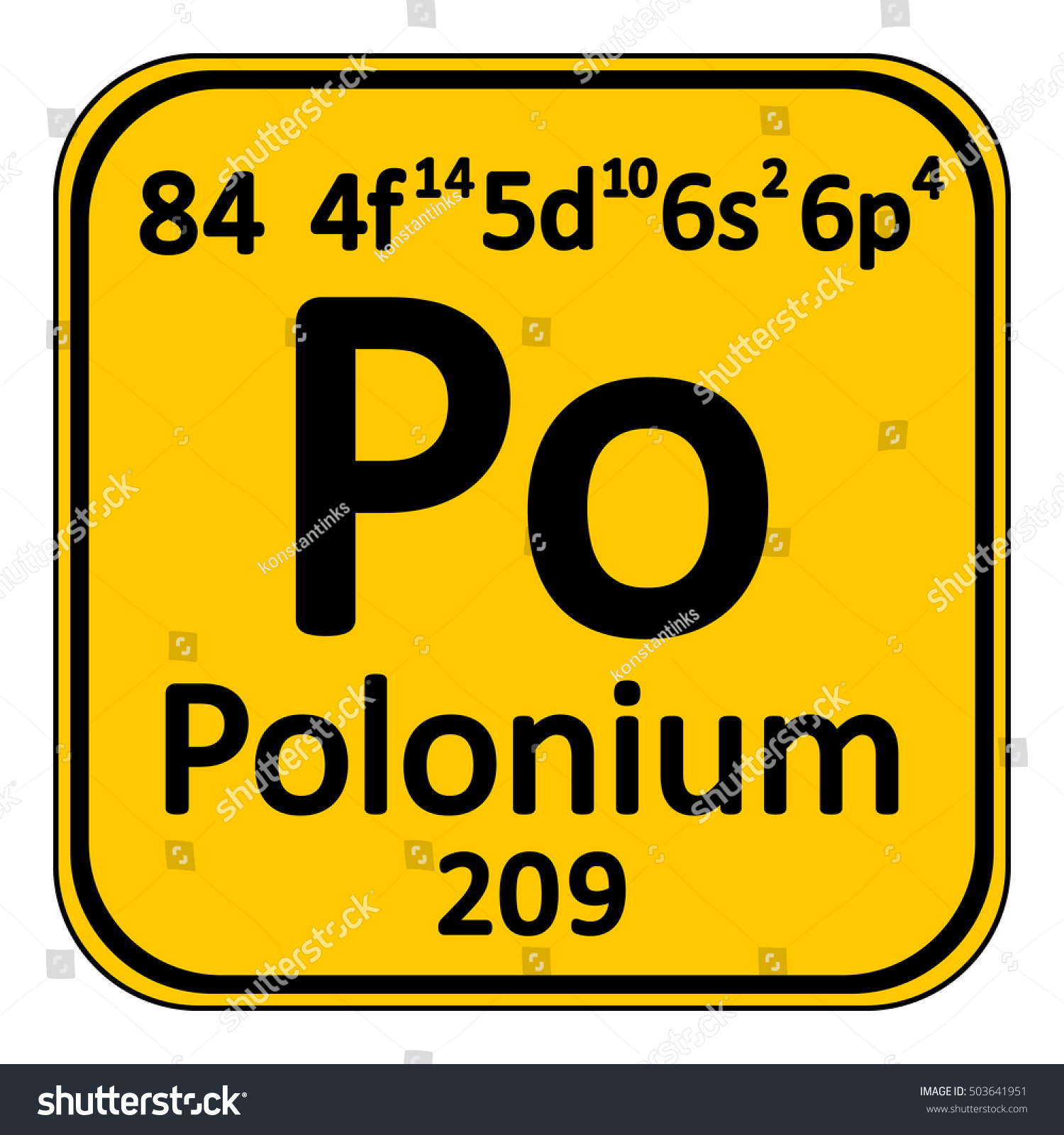 Periodic table element polonium icon on stock vector 503641951 periodic table element polonium icon on white background vector illustration gamestrikefo Choice Image