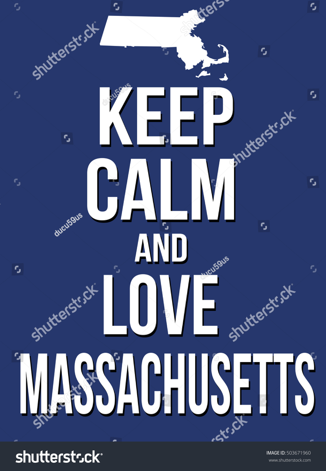 Keep calm and love Connecticut poster, vector illustration | EZ Canvas