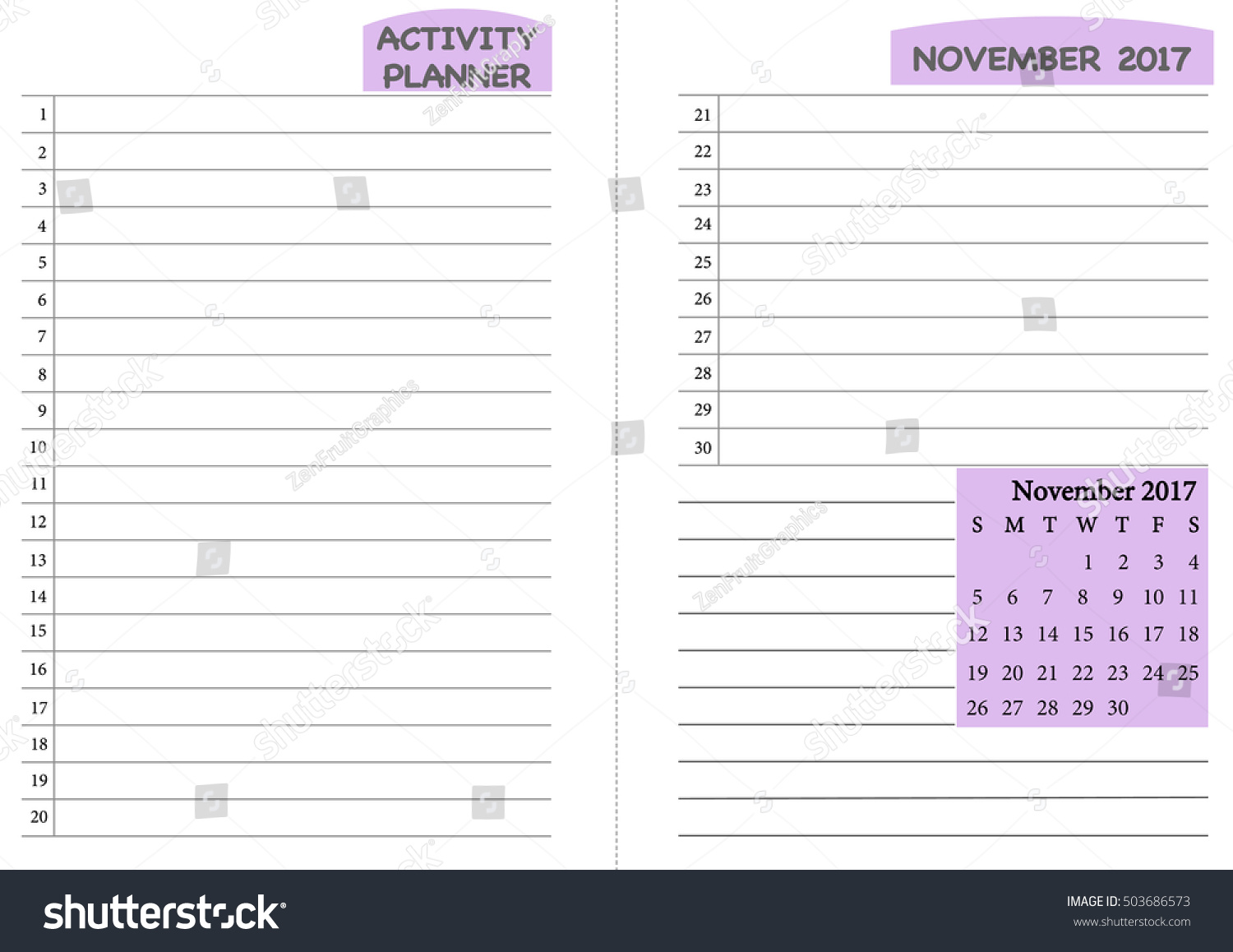 november 2017 calendar template monthly planner template with daily routine check list activity schedule chart