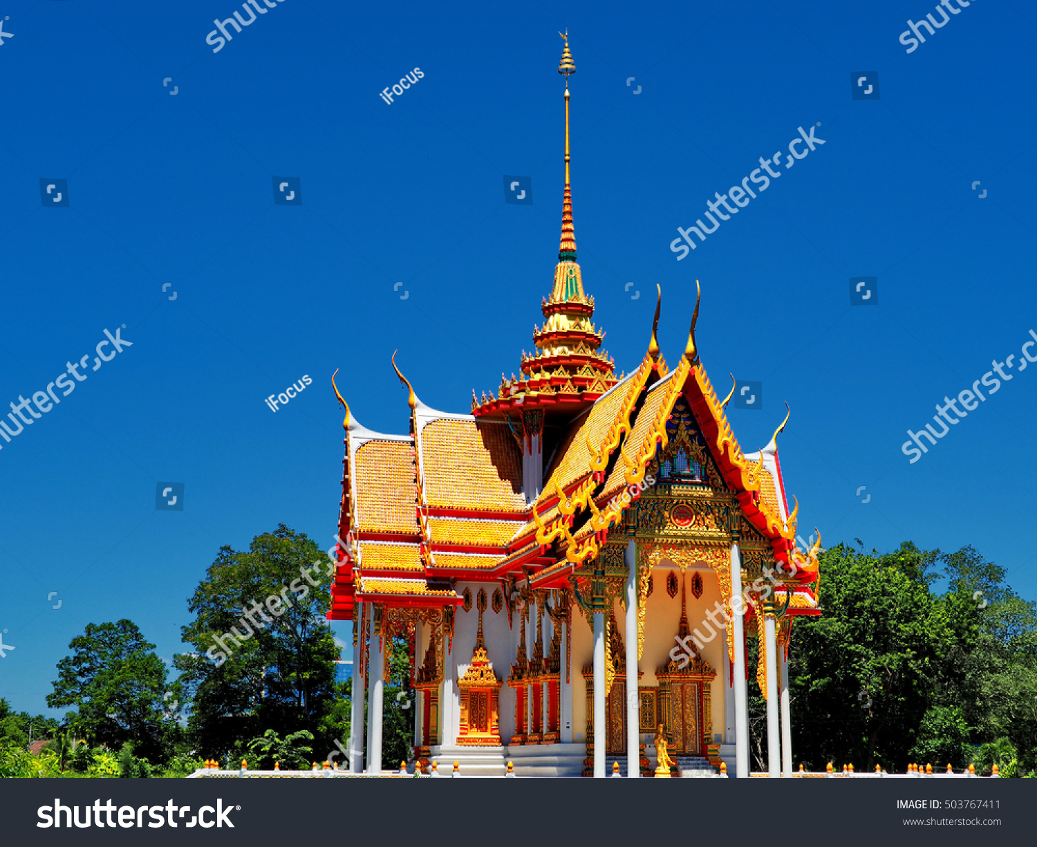 Gorgeous temple bathed in morning light