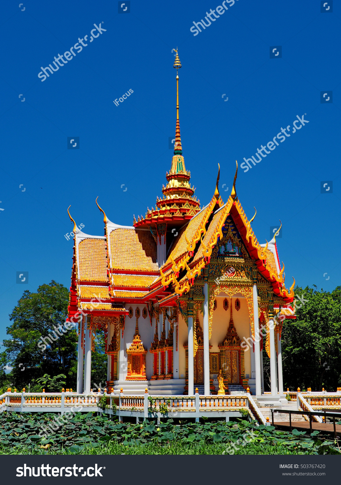 Beautiful Buddhist temple in Suphan Buri province