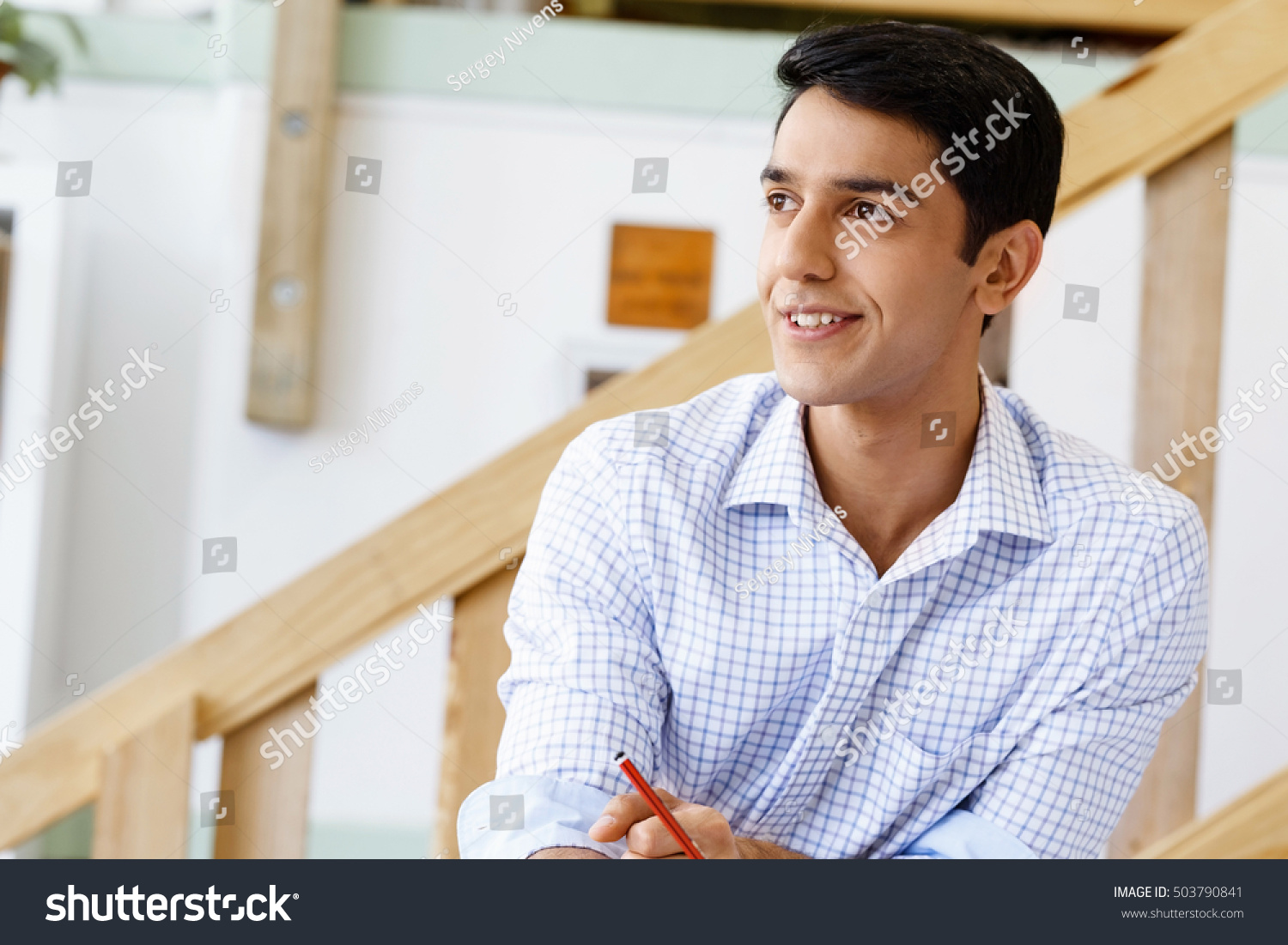 Portrait young man office stock photo 503790841 shutterstock - Office portrait photography ...