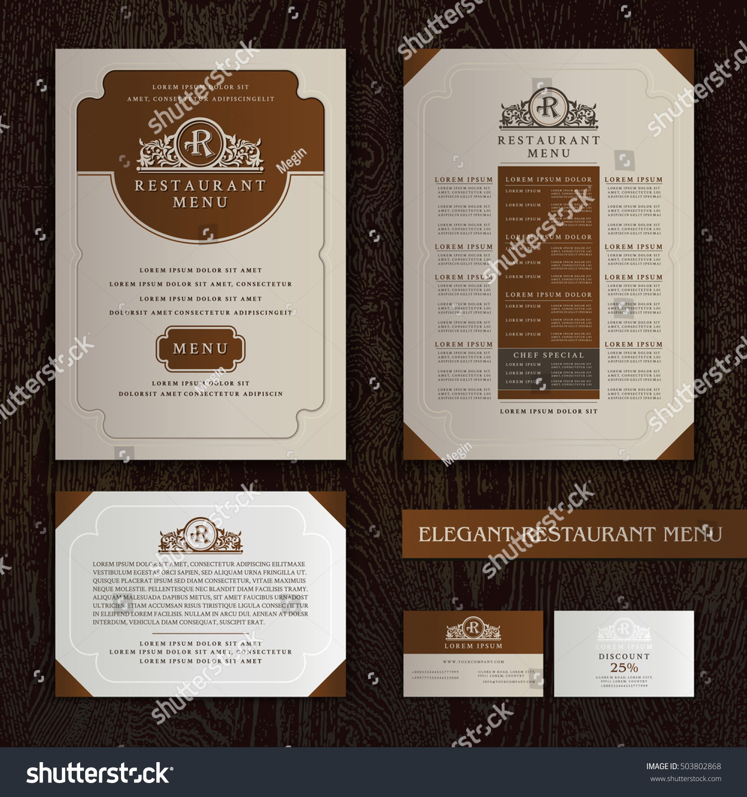 Vector Restaurant Menu Design Brochure Template Stock Vector - Elegant brochure templates