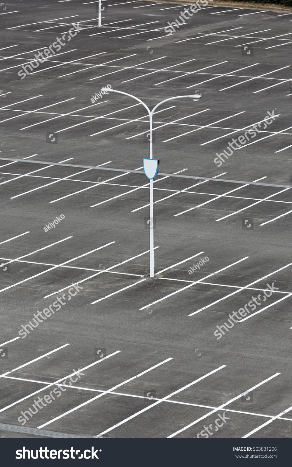 Car Parking White Mark Light Pole Stock Photo 503831206 Shutterstock