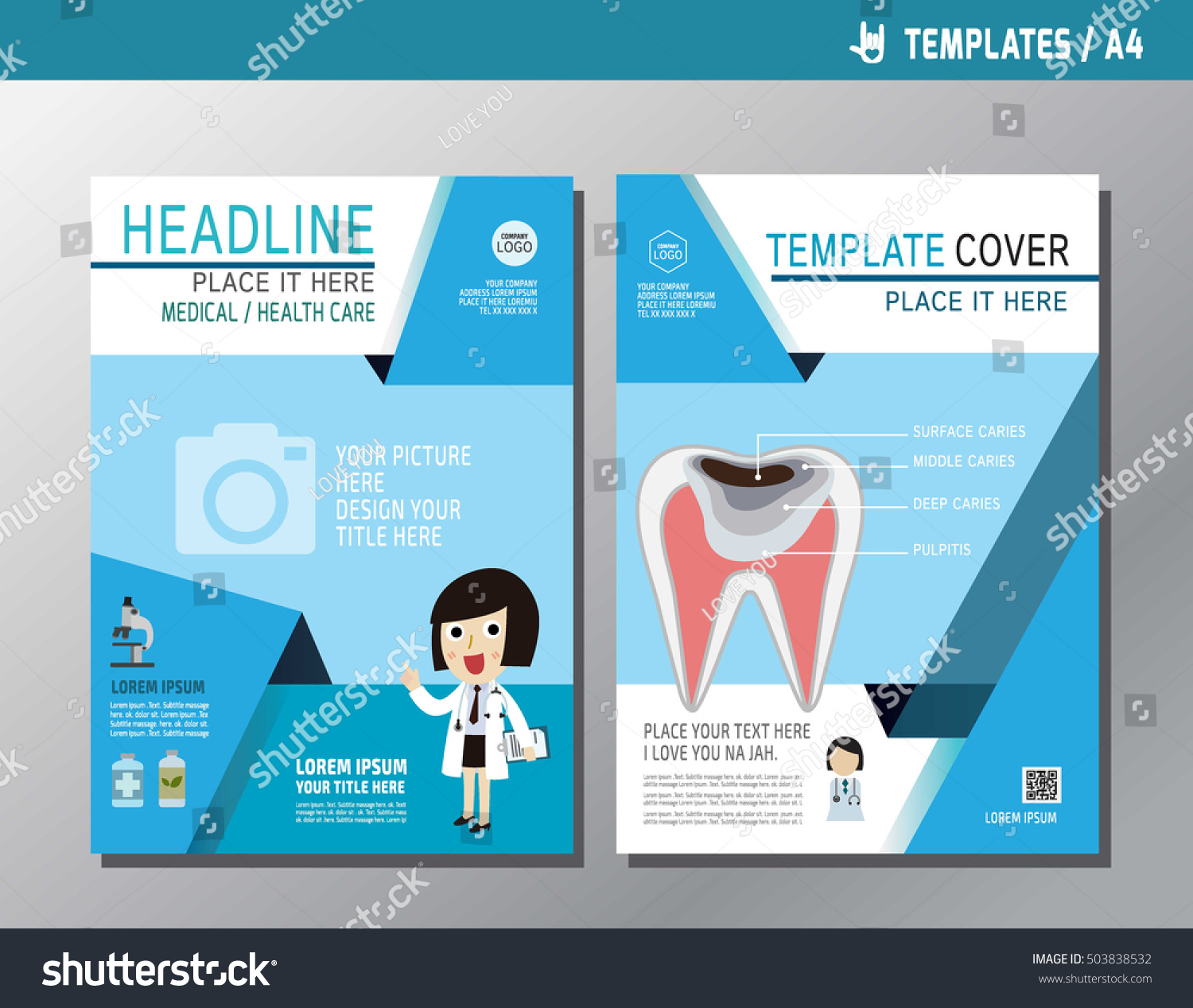 Health Flyer Leaflet Brochure Template A Stock Vector - Health brochure templates