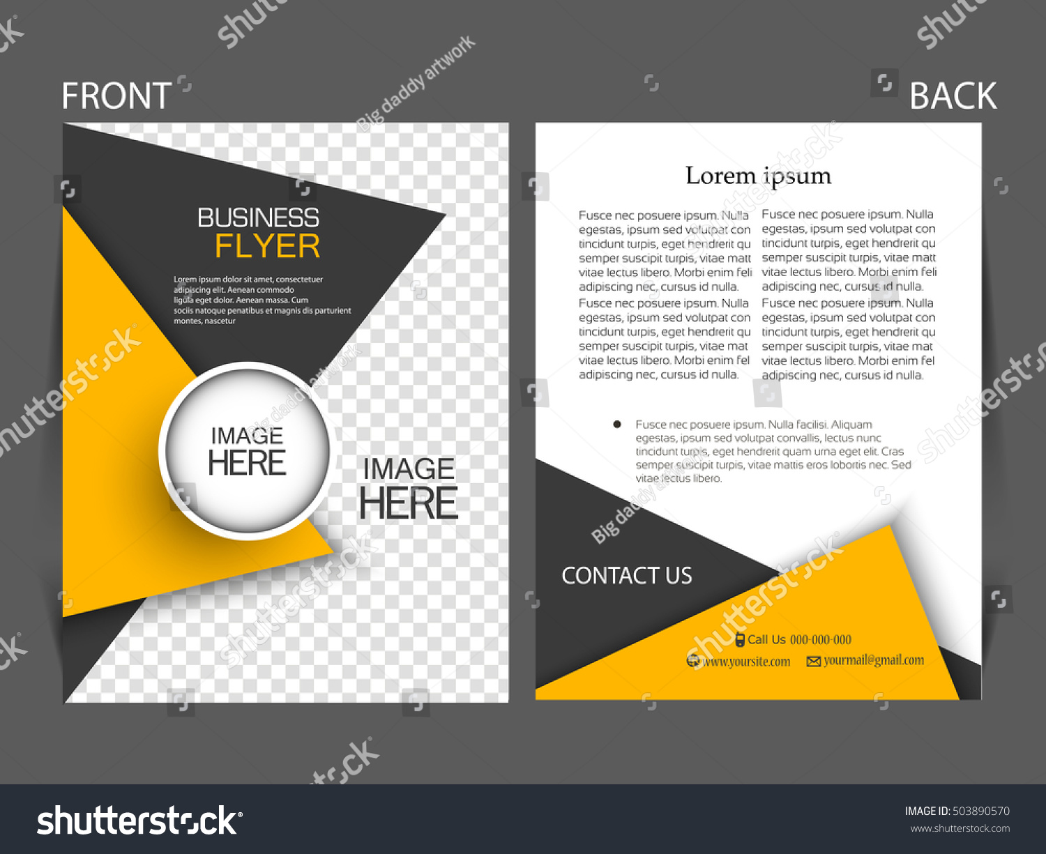 Vector business flyer magazine cover poster stock vector royalty vector business flyer magazine cover poster template flashek Images