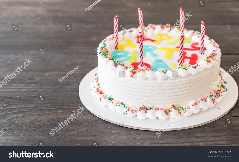 Happy Birthday Cake On Table Stock Photo Royalty Free 503915227