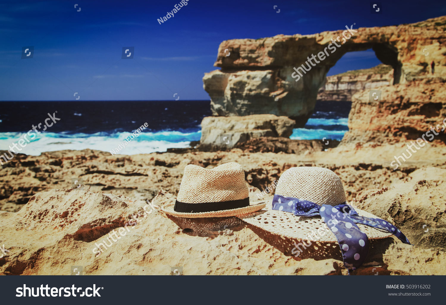 Two Hats Azure Window On Gozo Stock Photo Shutterstock - Malta vacation
