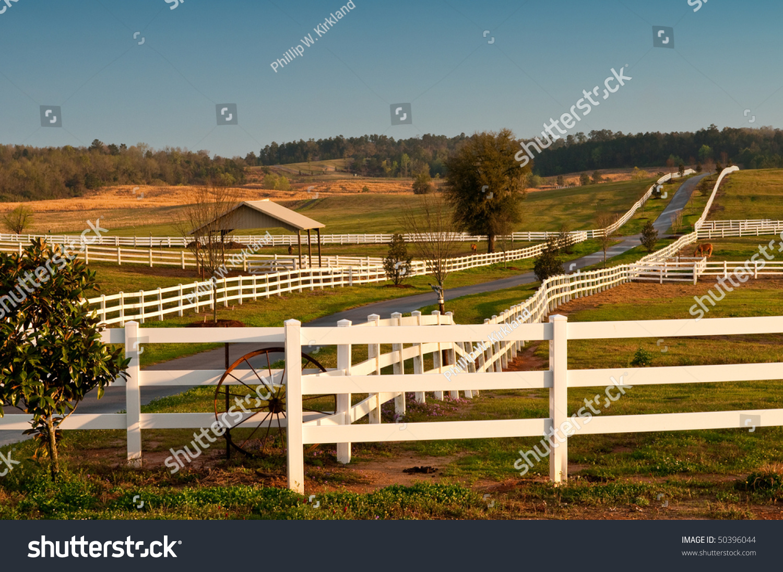 Modern Horse Ranch Stock Photo Edit Now 50396044