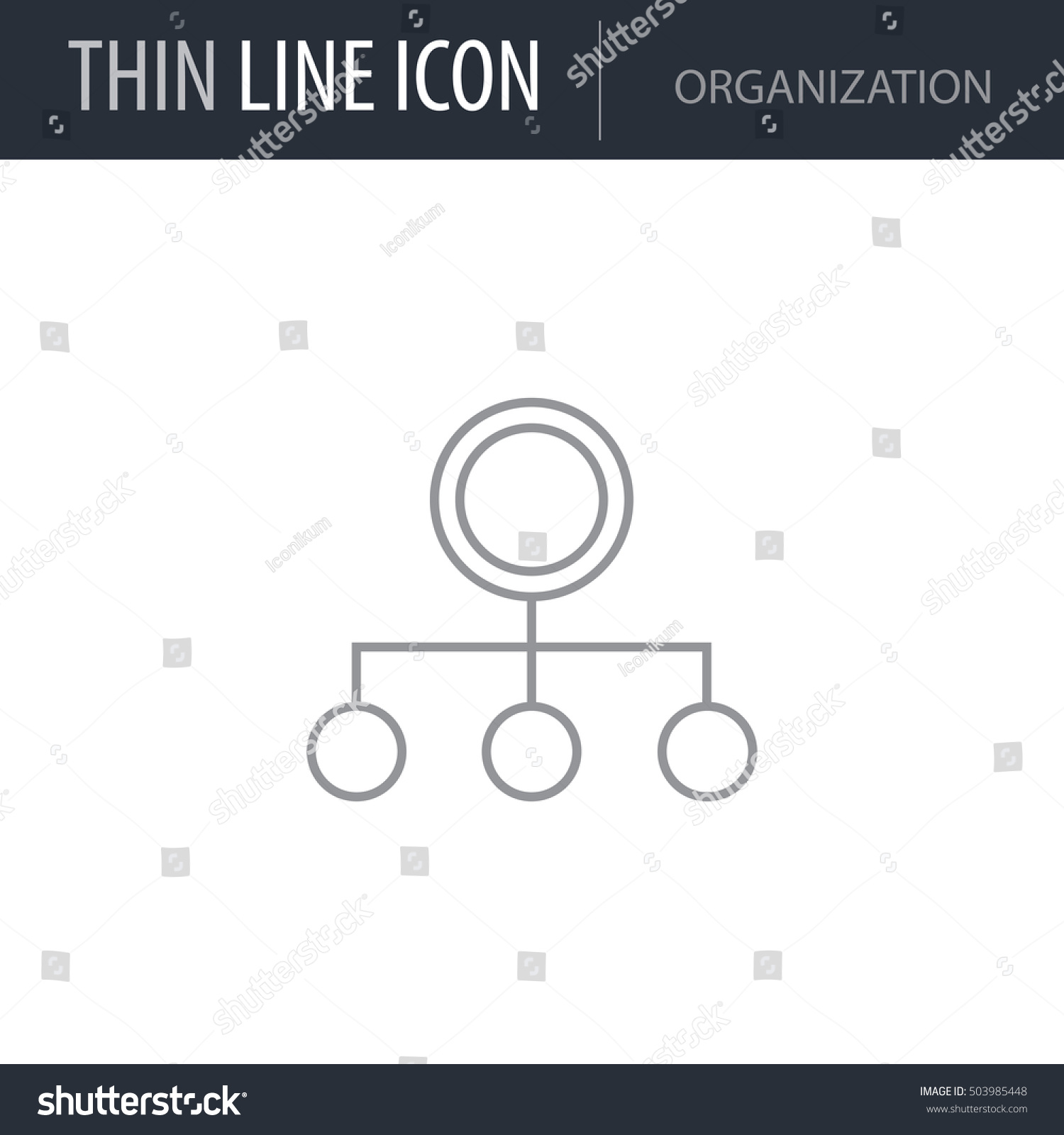 Symbol Organization Thin Line Icon Business Stock Vector 503985448