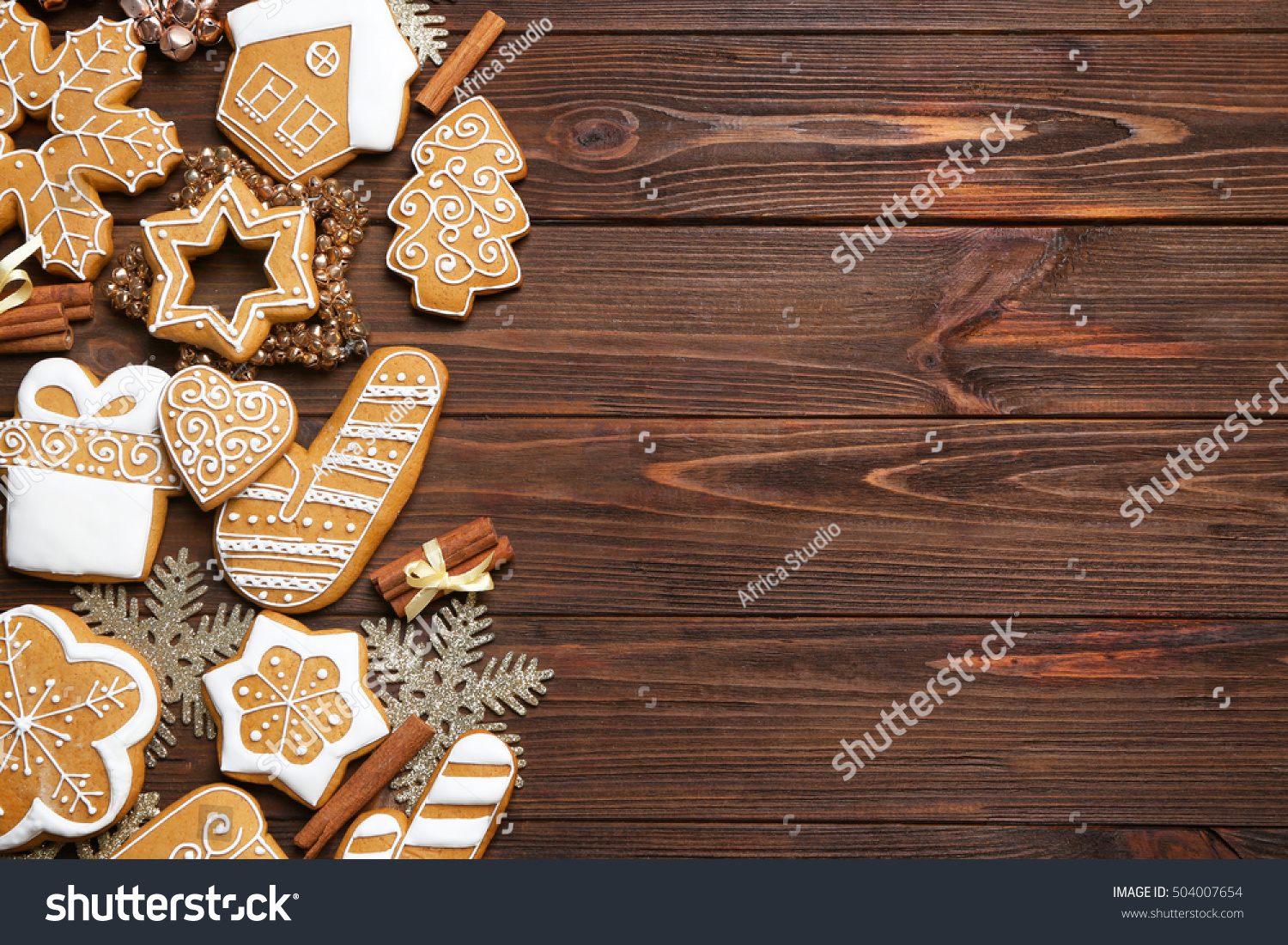843b2d7a95179 Tasty Gingerbread Cookies Christmas Decor On Stock Photo (Edit Now ...