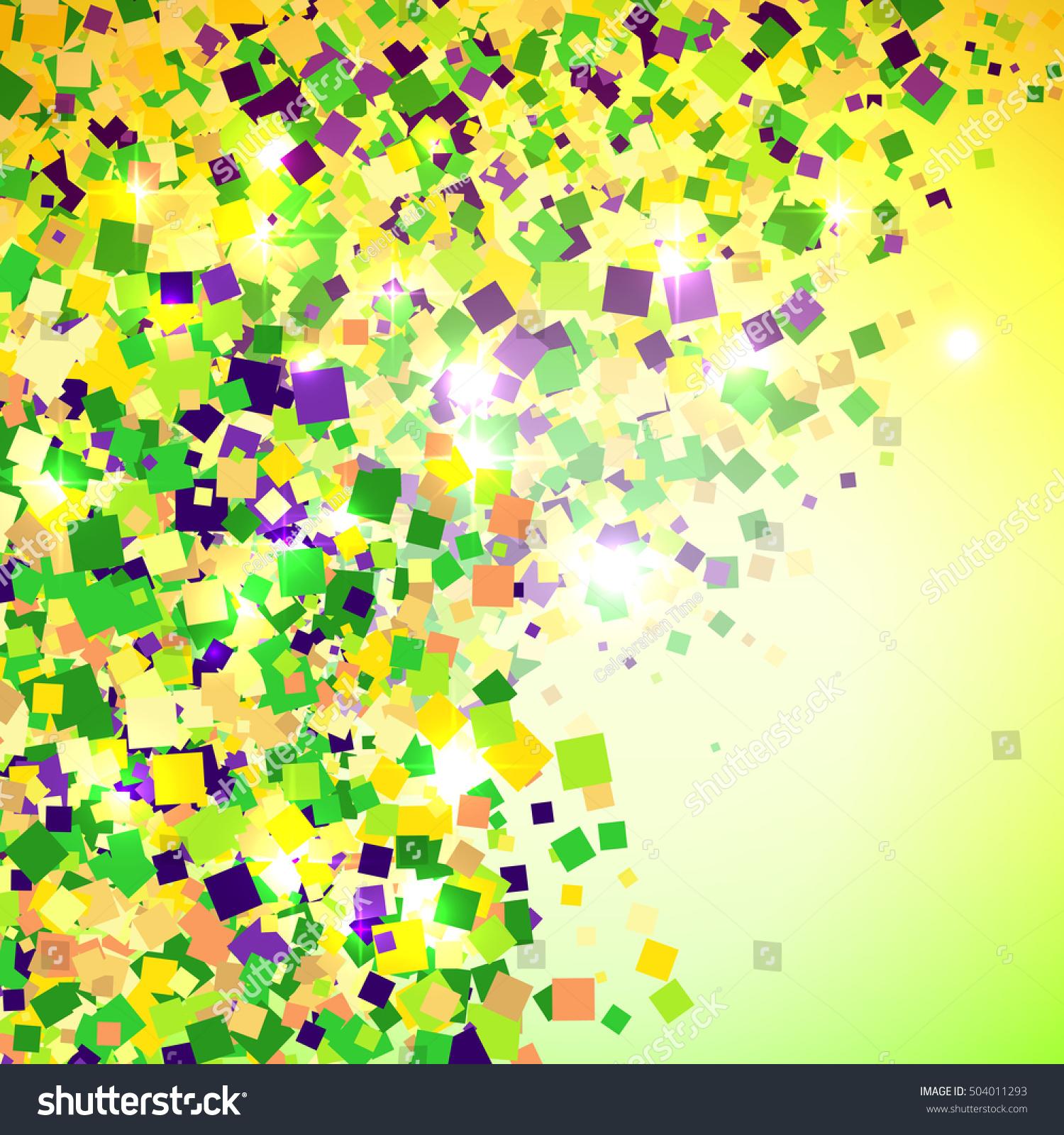 Vector Carnival Mardi Gras Confetti Background Stock Vector