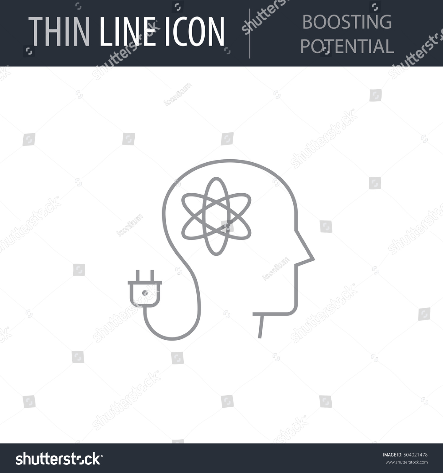 Symbol Boosting Potential Thin Line Icon Stock Vector Royalty Free