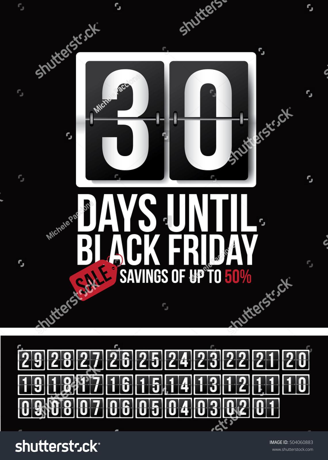 Countdown Black Friday Sale Flip Numbers Stock Vector Royalty Free