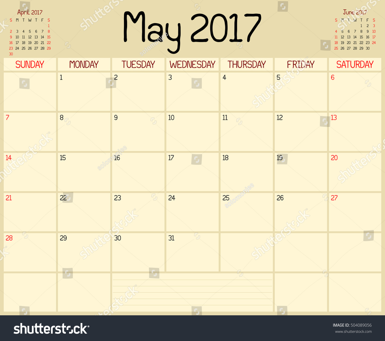 Calendar Planner May : Year may planner monthly stock illustration
