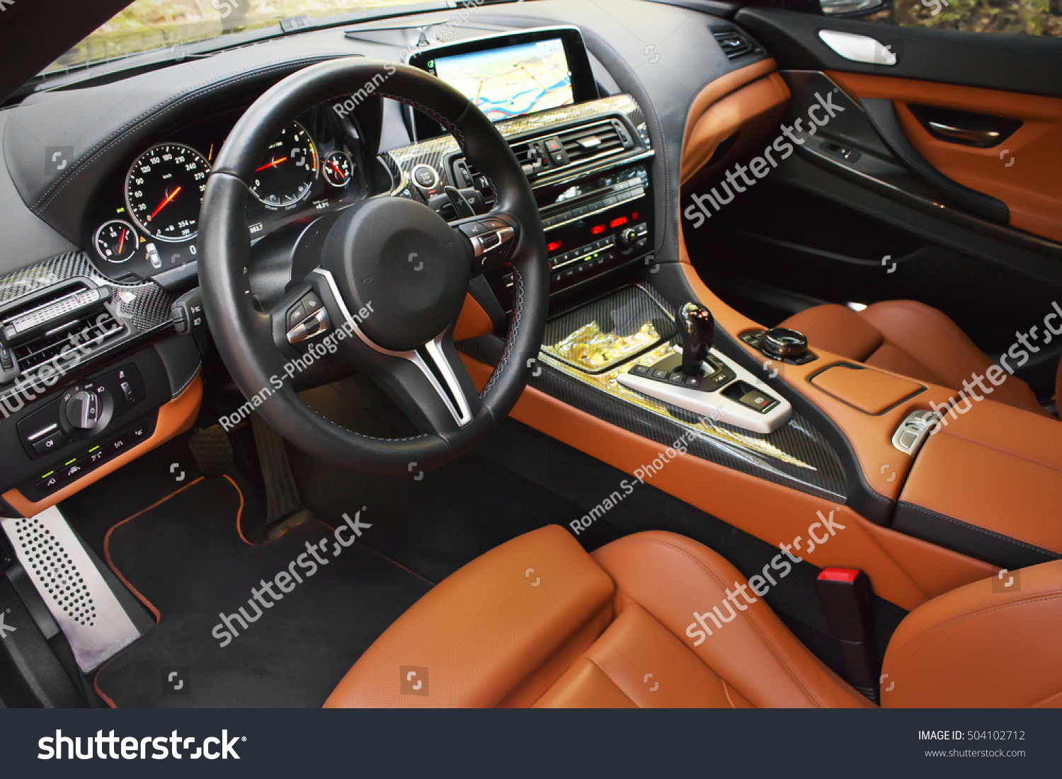 view of the interior of a modern automobile showing the dashboard beautiful brown car interior. Black Bedroom Furniture Sets. Home Design Ideas