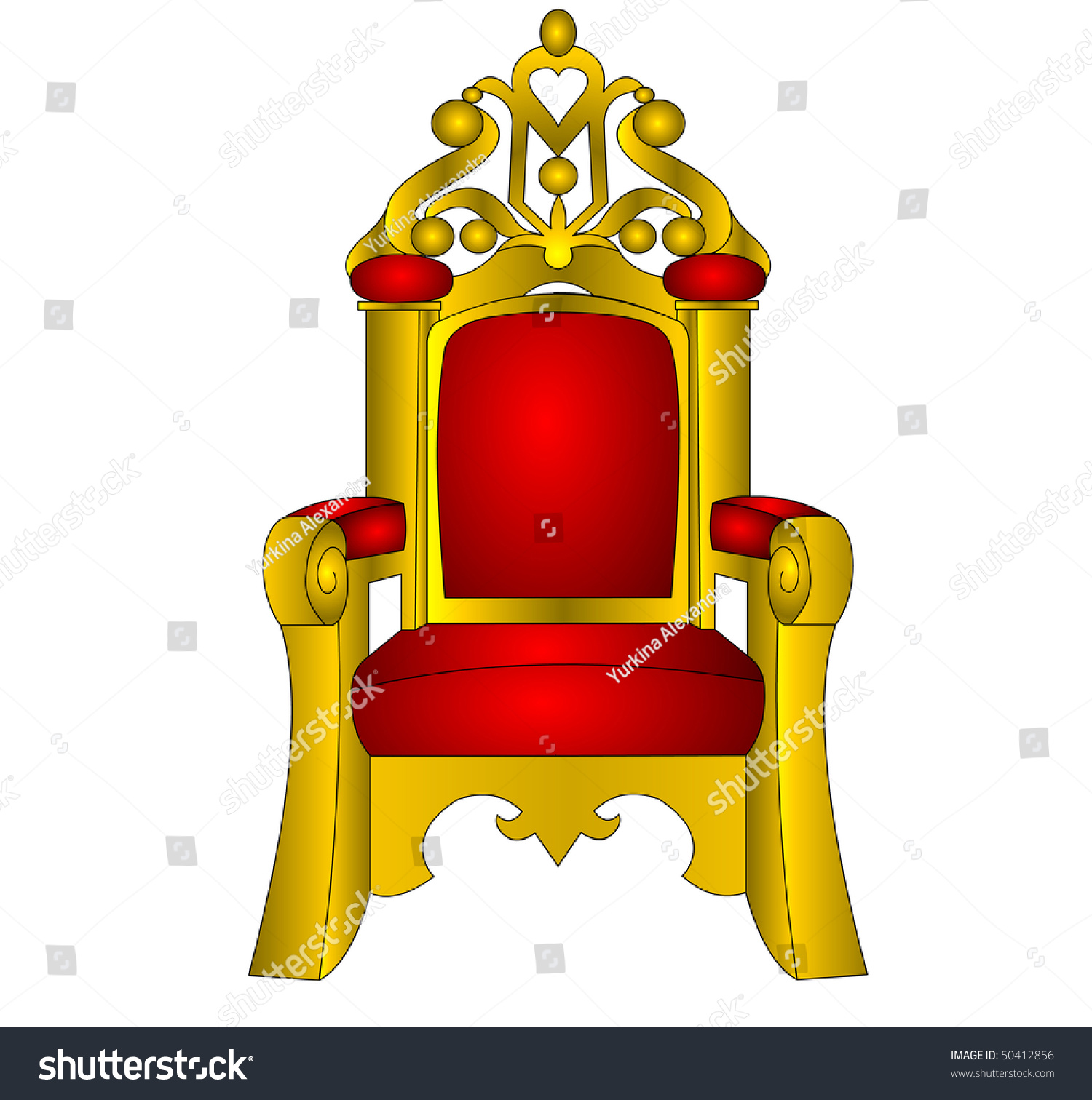 The Throne Chair For King Red And Soft Insulated On