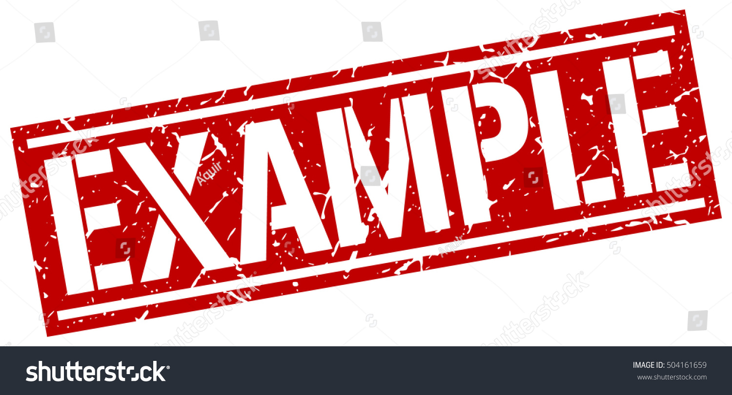 example grunge vintage example square stamp stock vector royalty