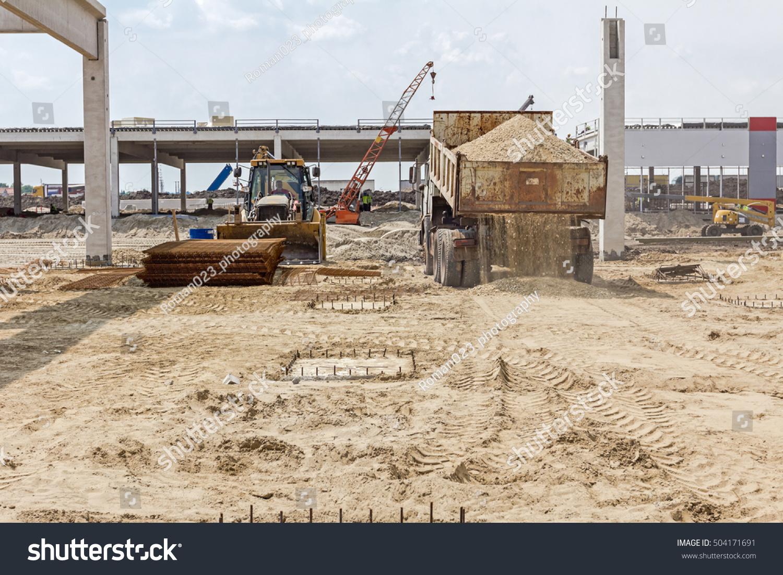 Construction Site Soil : Zrenjanin vojvodina serbia june stock photo