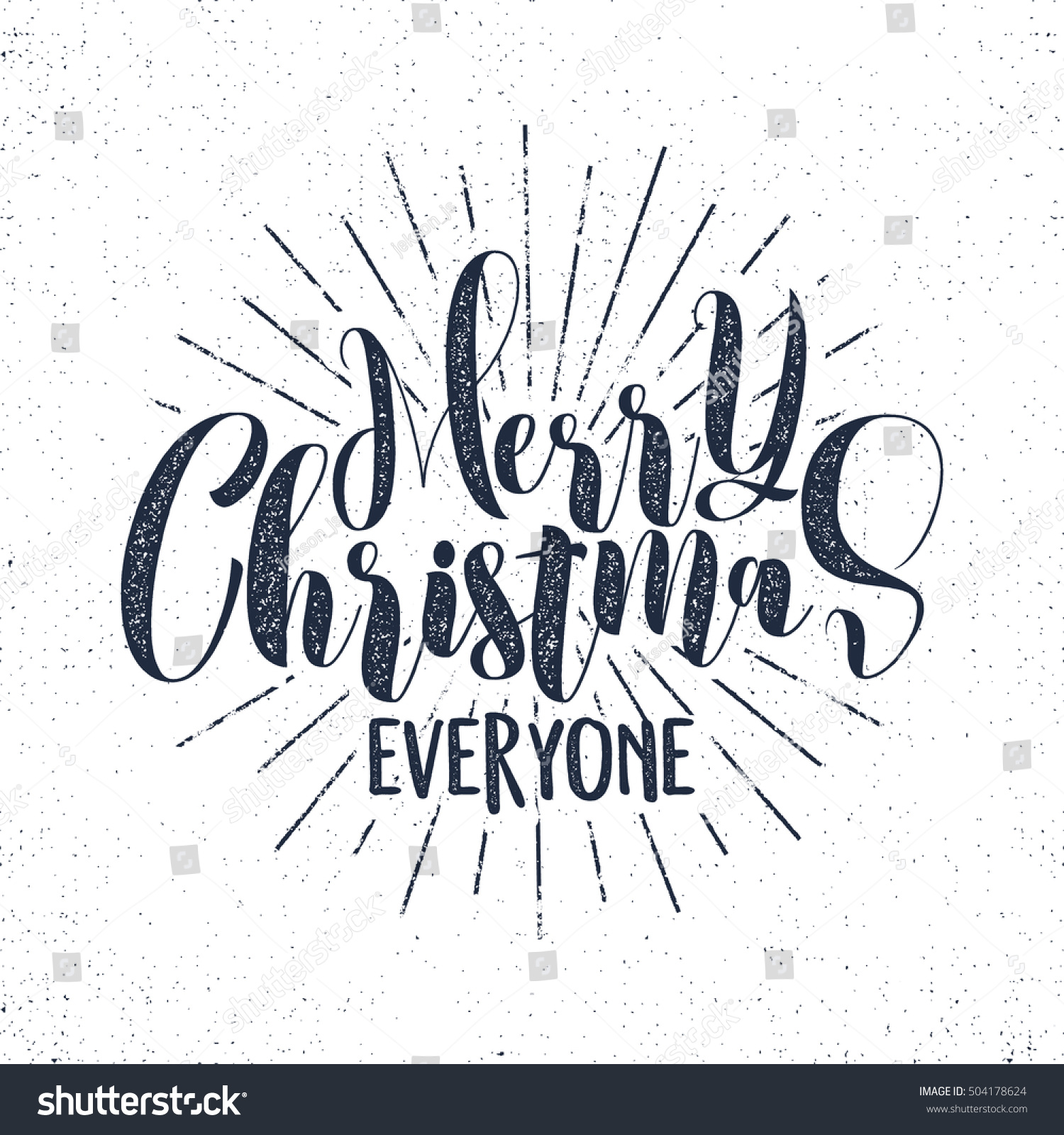 Merry Christmas Everyone Lettering Holiday Wishes Sayings And
