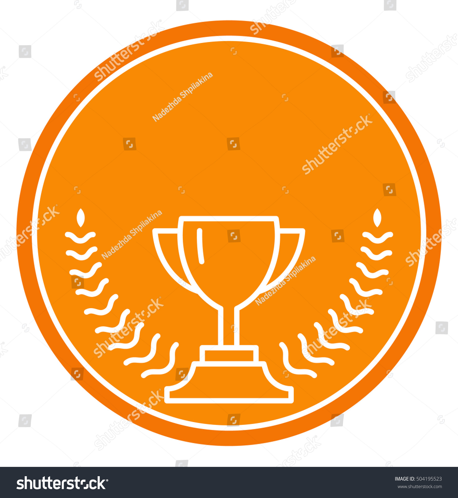 Vector cup thin line victory bowl stock vector 504195523 thin line victory bowl trophy super bowl icon white super cup biocorpaavc