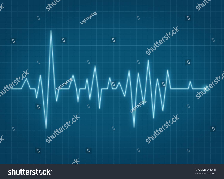 ecg pulse heartbeat life sign blue line ez canvas