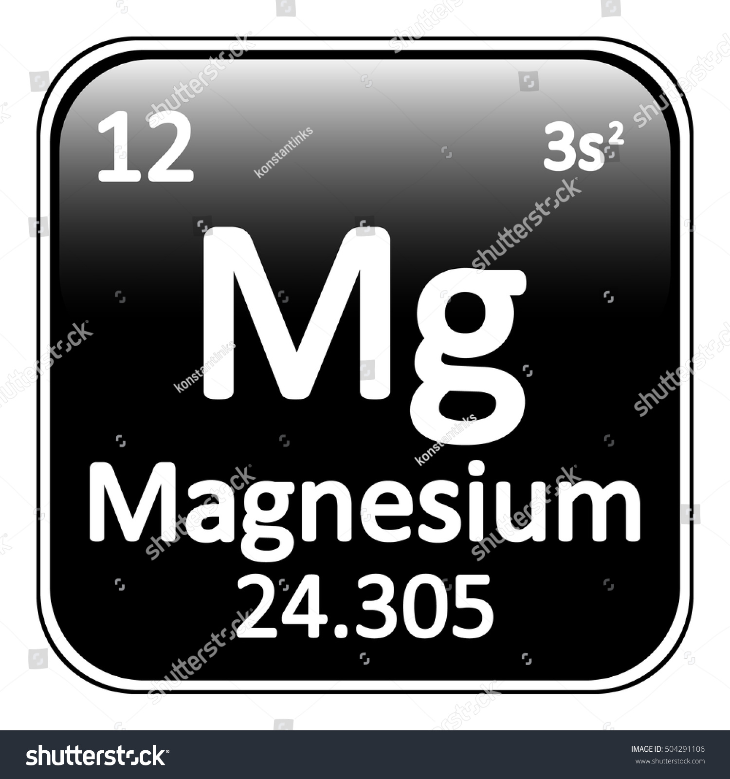 Periodic table element magnesium icon on stock vector 504291106 periodic table element magnesium icon on white background vector illustration gamestrikefo Gallery
