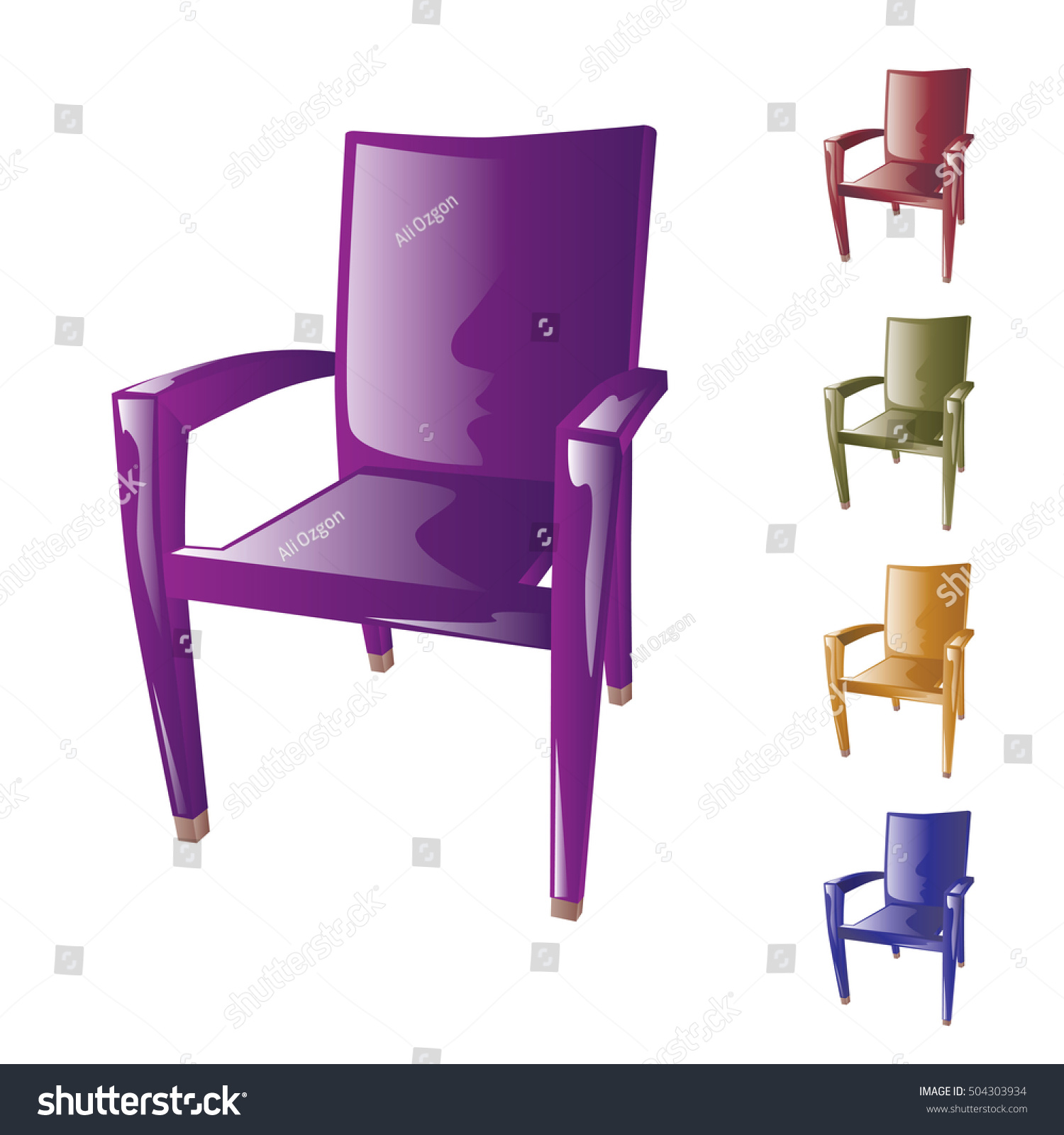 Plastic Chairs Vector Stock Vector Shutterstock