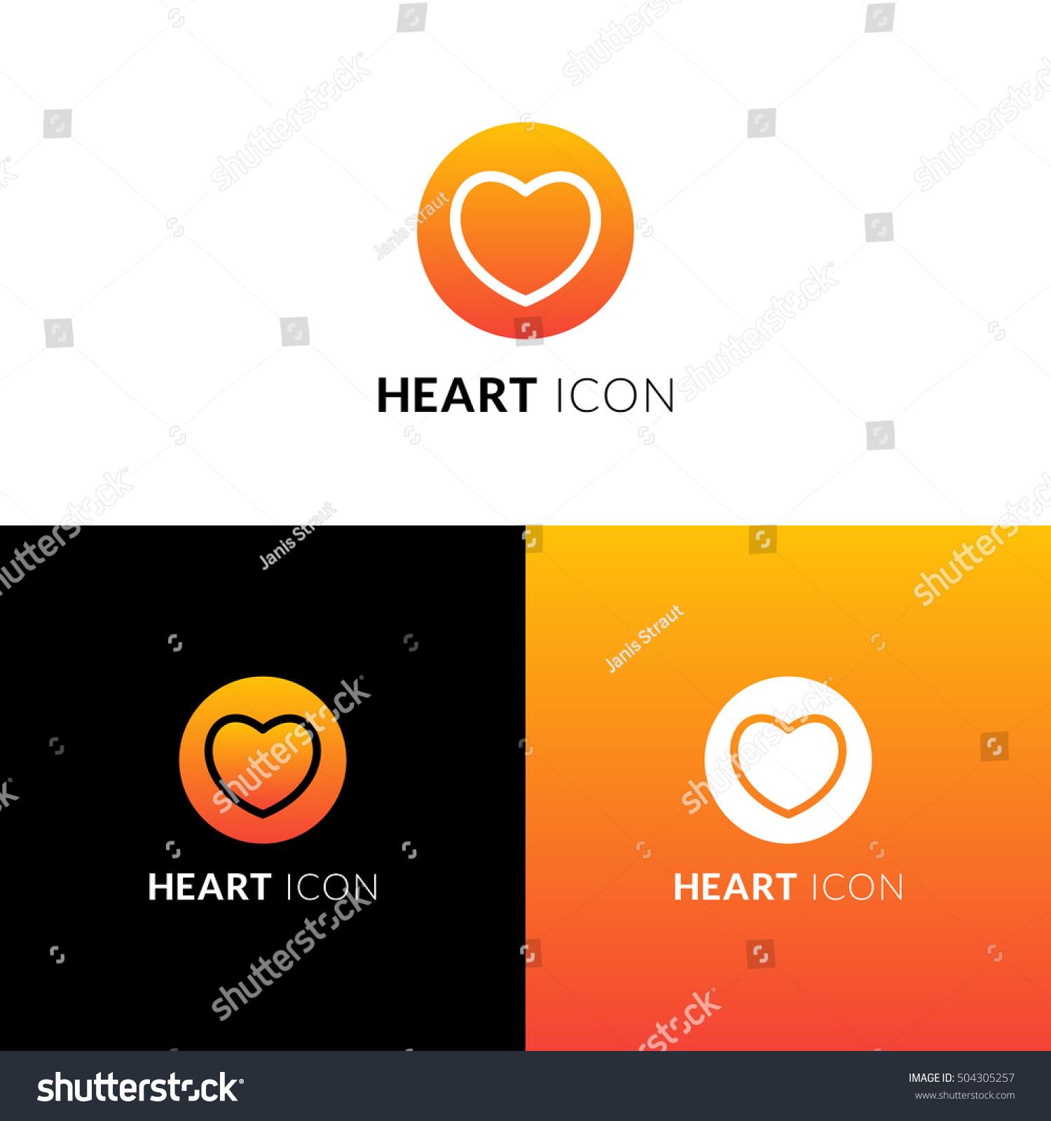 Heart Vector Icon Logo Decorative Love Stock Vector Royalty Free