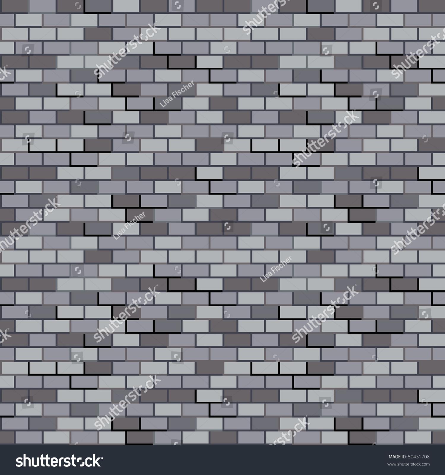 Seamless Gray Brick Wall Pattern Stock Photo 50431708