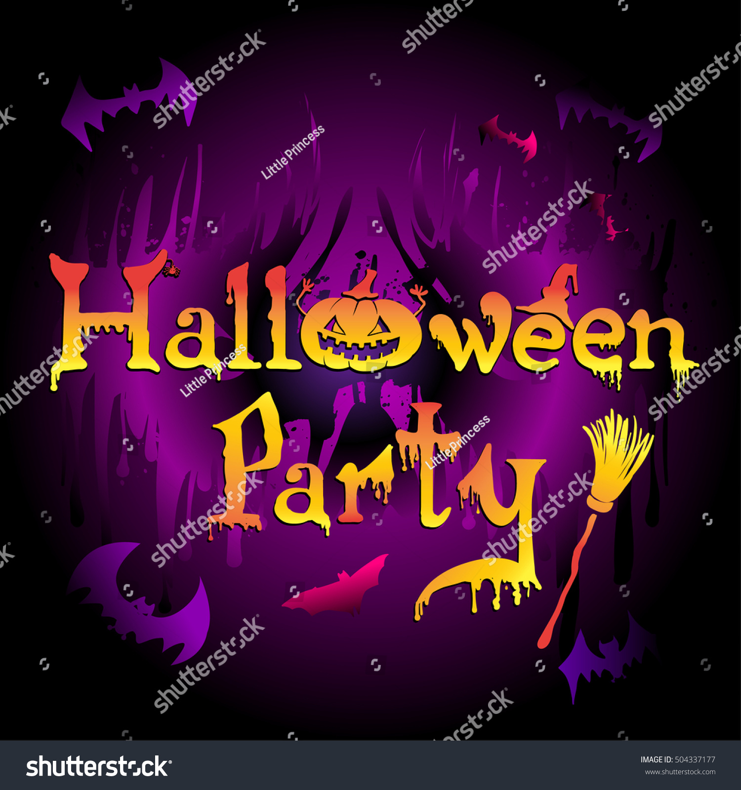 Most Inspiring Wallpaper Halloween Neon - stock-vector-abstract-holiday-banner-with-happy-halloween-calligraphy-background-in-neon-colors-with-silhouette-504337177  Pic_97913.jpg