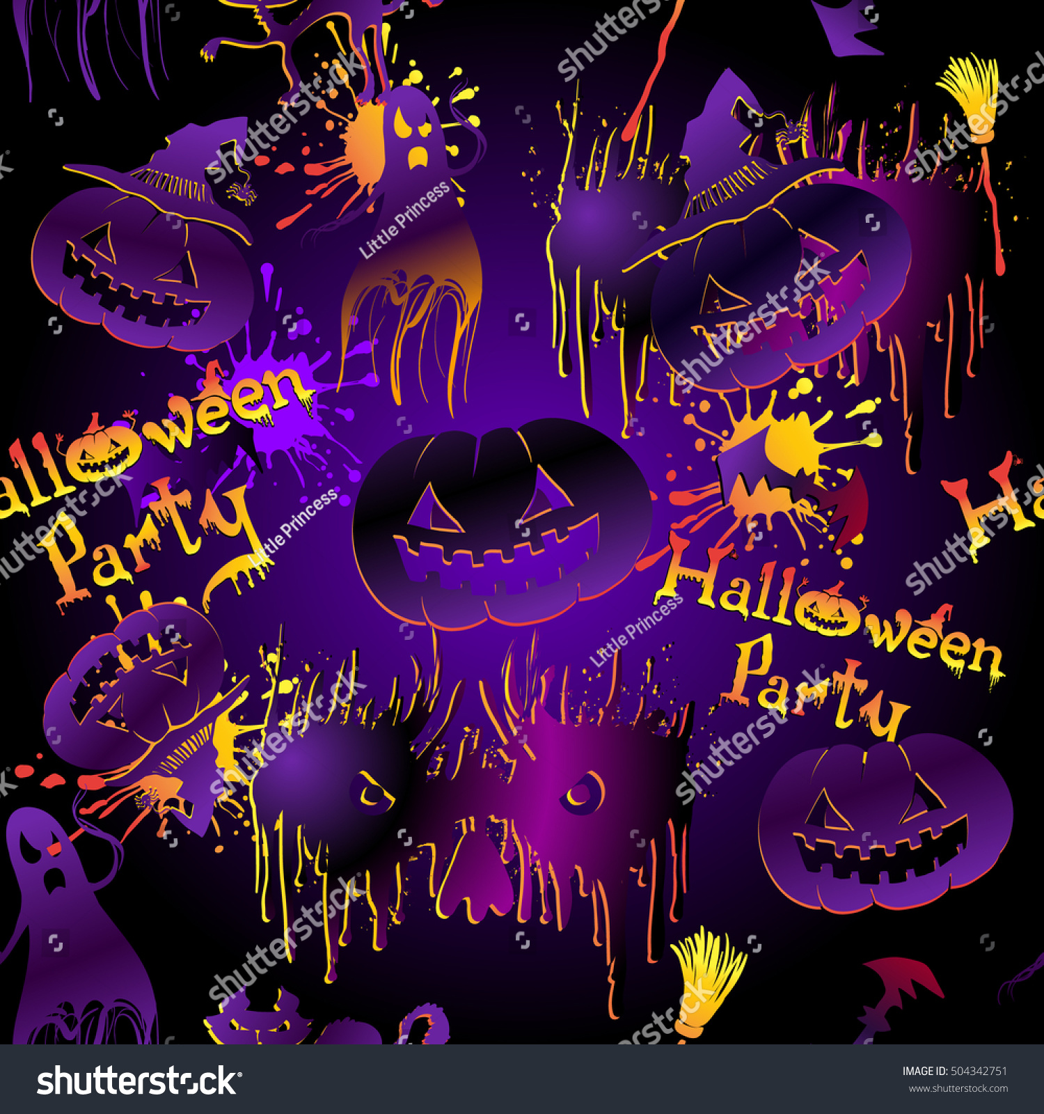 Most Inspiring Wallpaper Halloween Neon - stock-vector-abstract-holiday-banner-with-happy-halloween-calligraphy-background-in-neon-colors-with-silhouette-504342751  Pic_97913.jpg