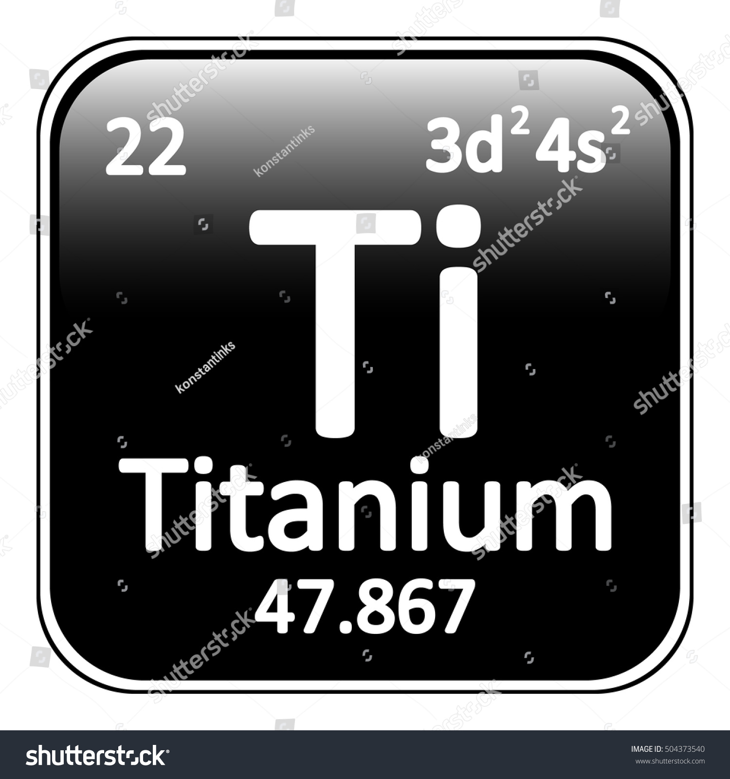 Periodic Table Element Titanium Icon On Stock Vector ...