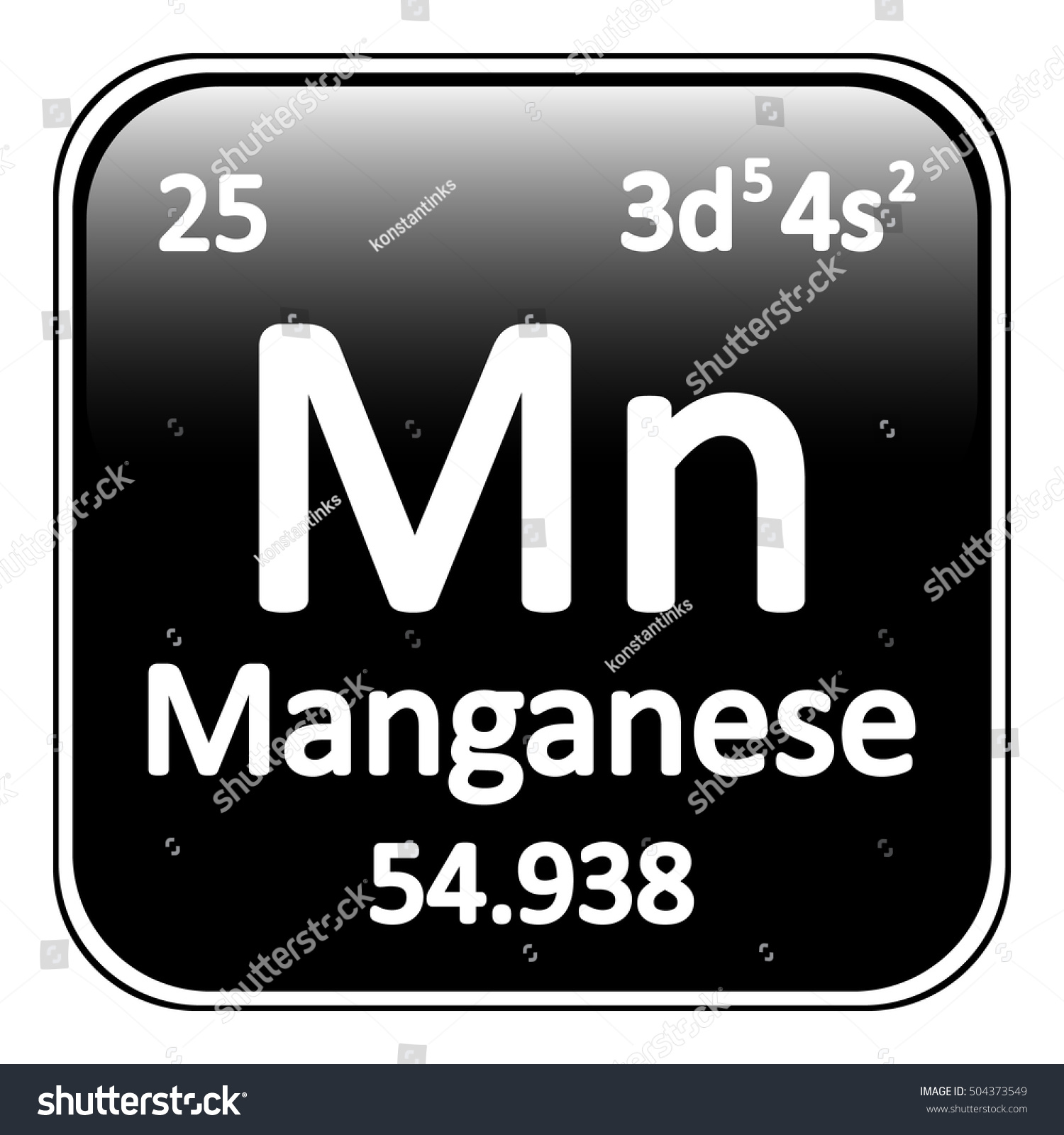 Periodic table element manganese icon on stock vector 504373549 periodic table element manganese icon on white background vector illustration gamestrikefo Images
