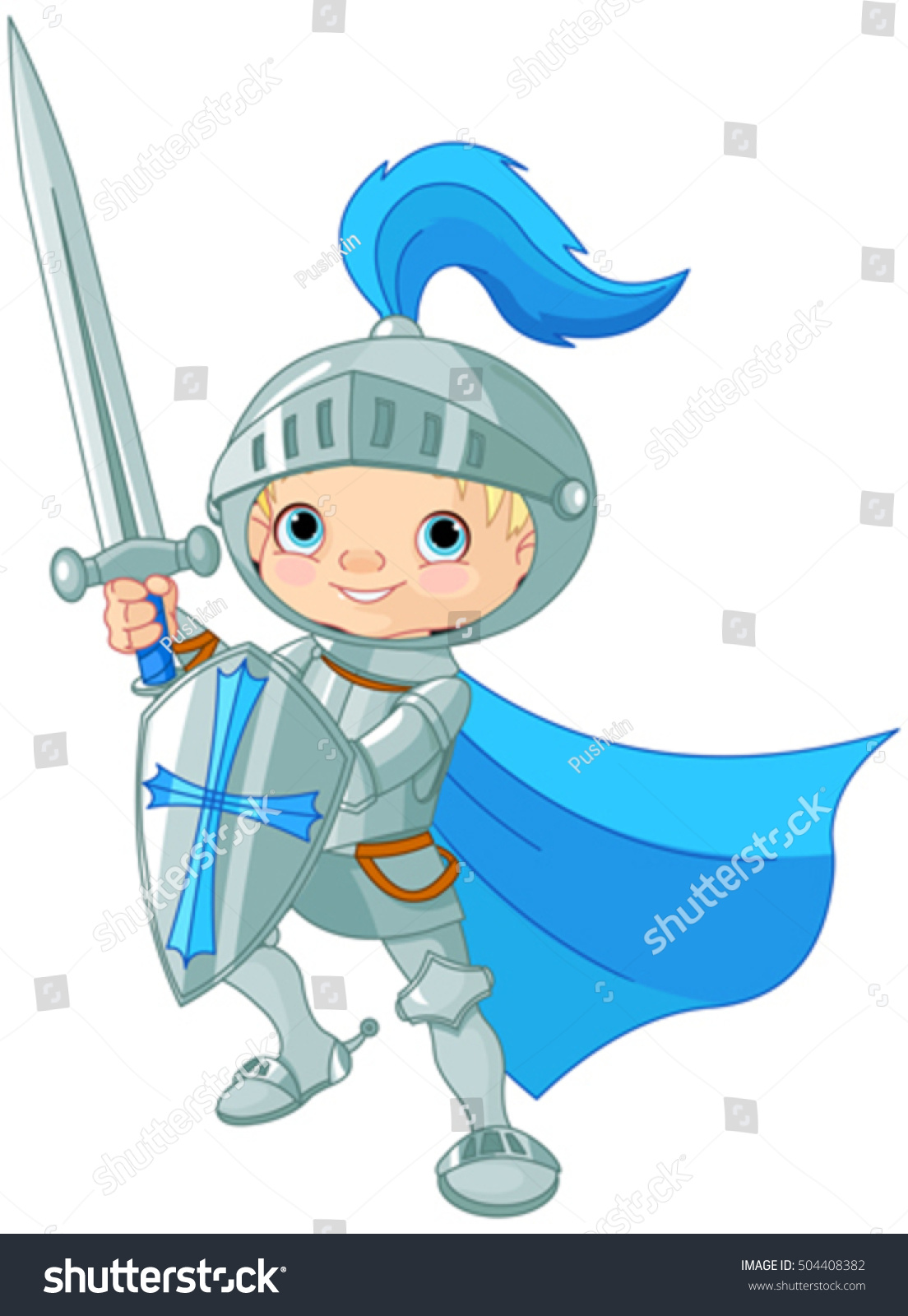 Illustration Fighting Brave Knight Stock Vector 504408382 ...