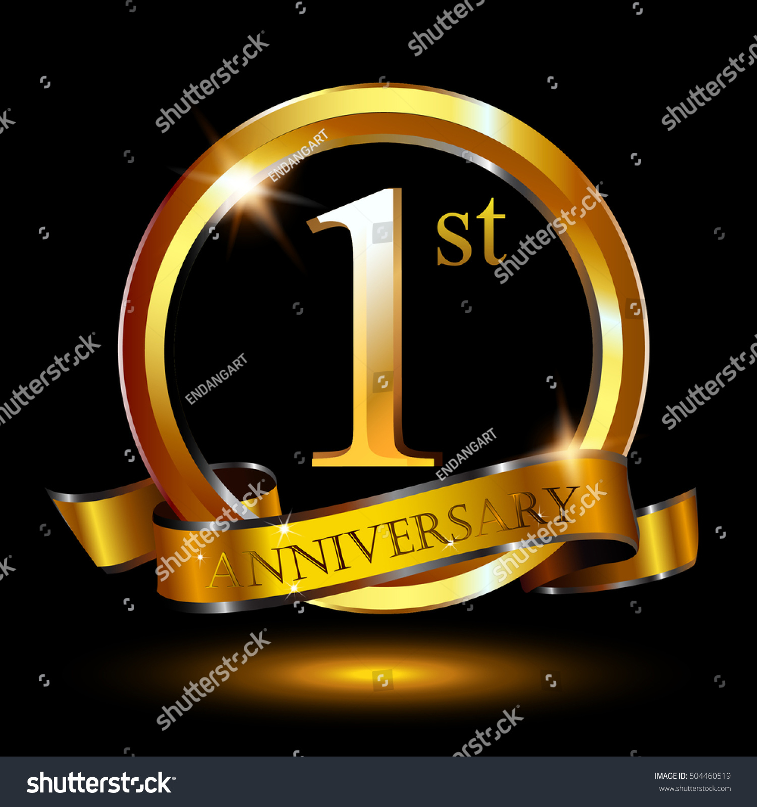 St golden anniversary logo year stock vector