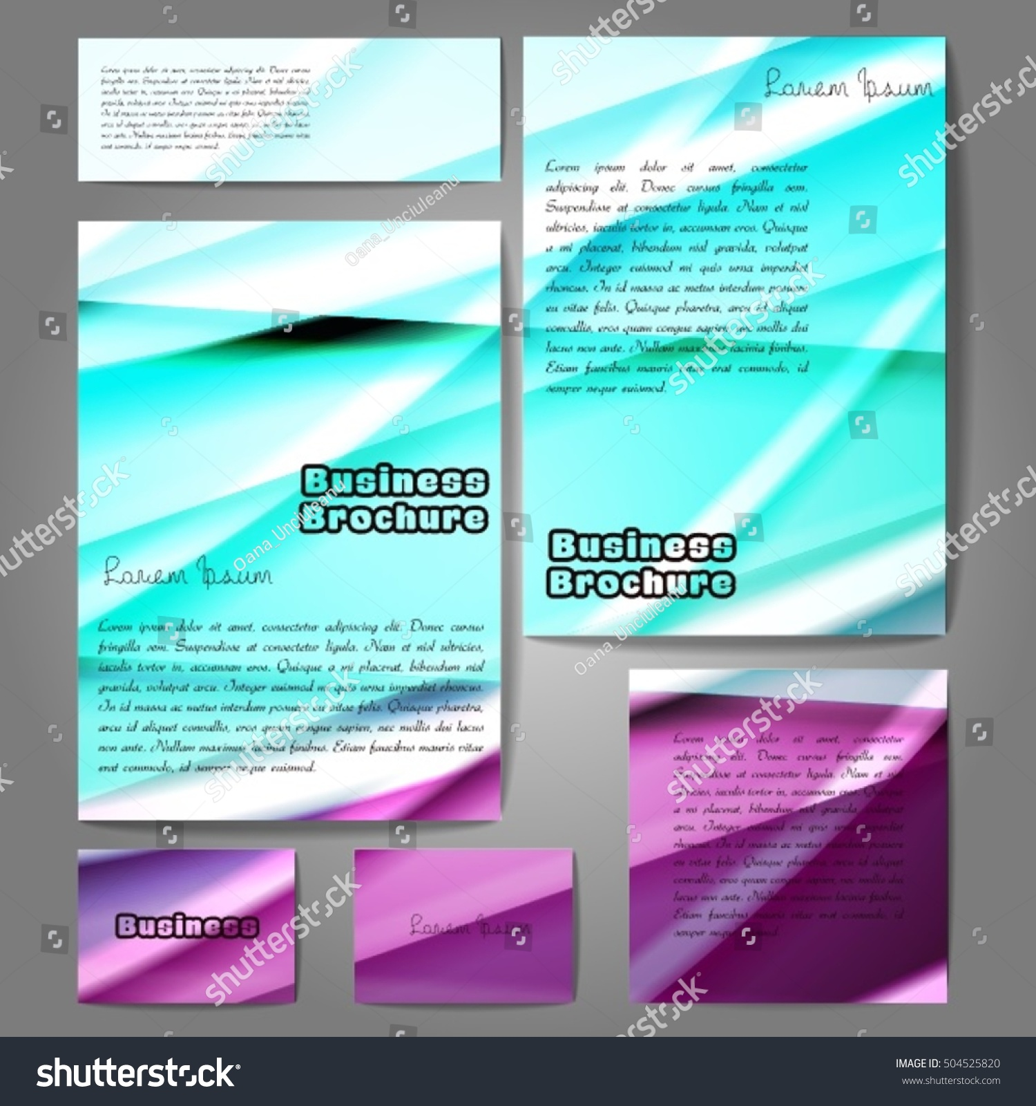 Corporate identity template set Business stationery mock up with